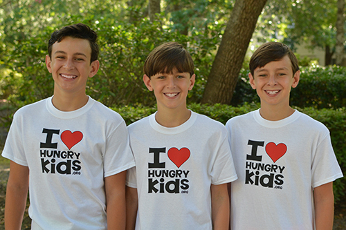 Jackson, Gabe and Riley Silverman of I Heart Hungry Kids